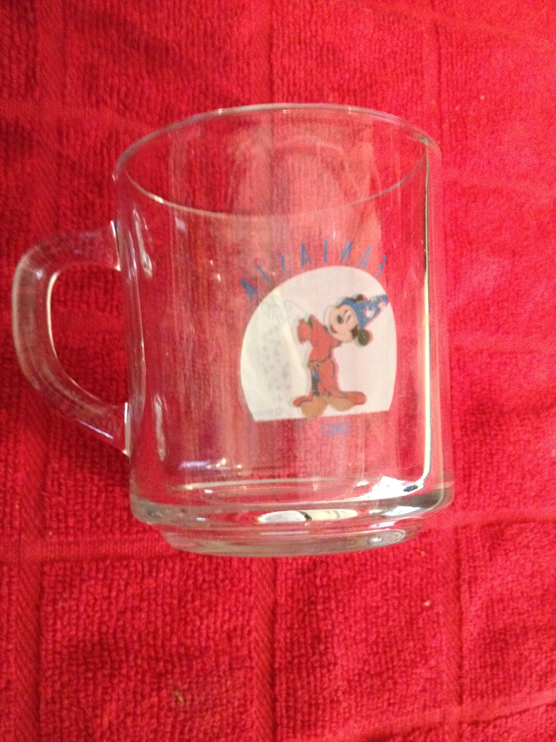 Coffee Fantasia Cup Disney Mickey Mug Mouse Sorcerer Anchor Hocking Apprentice W