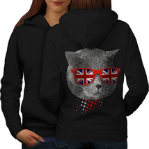 British Shorthair Sweatshirt Hoody Patriot Cat Women Hoodie Back - $21.99+