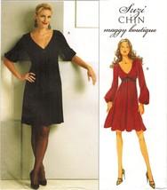 Misses Suzi Chin Maggie Boutique Shaped Empire Waist Dress Sew Pattern 8-14 - $13.99