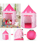 Pink Princess Tent Playhouse Castle Toys for Girls Foldable Play Hut Cam... - €17,17 EUR