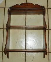 Solid Walnut Carved 3 Tier Shelf / Wall Shelf - $199.00