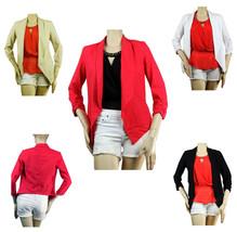 Good Linen 3/4 Sleeve Summer Open BLAZER  Stitch Arm Casual CARDIGAN  Bl... - $23.99