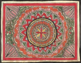Madhubani Rangoli Art Handmade Indian Tribal Mithila Bihar Folk Painting - $89.99