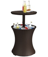Patio Bar Rattan Cooler Table Cocktail BBQ Outdoor Pool Party Deck - $146.47