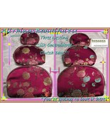 Silk Embroidered 3 Burgandy Nesting Clutch Bags Suitable for Ballroom to... - $10.00