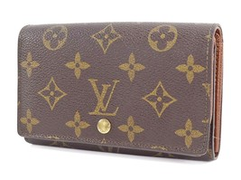 Authentic LOUIS VUITTON Monogram Long Wallet Zippered Coin Purse #29896 - $249.00