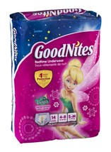Potty Training Disposable Underwear Protection Night Time S/M 14 CT Girls - $12.59
