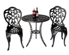 3 Piece Bistro Set Outdoor furniture cast aluminum Bronze Sunvueoutdoorliving image 2