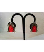 Vintage Selro Corp Red Thai Girl Earrings - $30.00