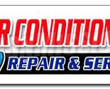 "48"" AC REPAIR & SERVICE DECAL sticker hvac air conditioning estimates finance"