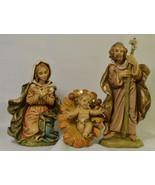 """#0327 - 3 piece Fontanini Italy Nativity Holy Family 5""""  - $65.00"""