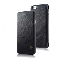iPhone 6 Luxury BLACK PU Leather Flip style protective wallet case - $15.34