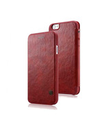 iPhone 6 Luxury RED PU Leather Flip style protective wallet case - $15.34