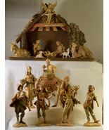 "#0320 - 18 piece Fontanini 5"" Nativity, Italy - starter set  - $250.00"