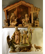 """#0323 12 piece Fontanini 7"""" Nativity with Stable Italy  - $300.00"""