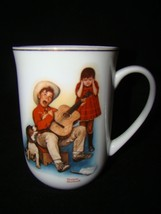 4 Coffee Mugs Vintage 1981 Norman Rockwell Collection - $12.86