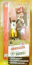 McFARLANE'S TOY SPORTS PICKS NFL Figure Sereis 1 TONY GONZALEZ BRETT FAVRE - $55.99