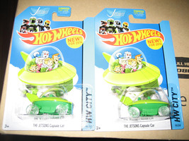 NEW 2014 HOT WHEELS The Jetsons Capsule Car - MISP x2 + Promo Toy - €5,70 EUR
