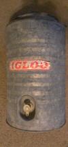 Vintage Igloo Water Cooler Galvanized Steel Met... - $28.22
