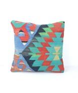 16x16 Decorative ,Throw Pillow Ethnic,Kilim Pillow Cover, BohemianTribal Cushion - $14.00