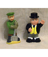2 Thomas the Tank Engine Character Figures Sir Topham Hatt and coalman w/shovel - $15.00