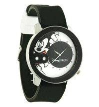 NEW Flud Mickey Mouse Rex Pose White and Black Steel Quartz Analog Watch 2 Bands