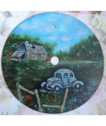 Custom Order, Old Car, Summer Landscape, Hand Painted, Oil Painting, Fat... - $45.00