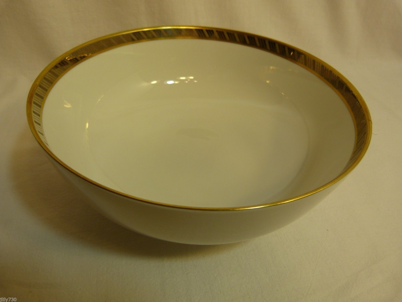 "Primary image for Rosenthal Germany Form E Modell R. Loewy Fine China 8"" Serving Bowl"