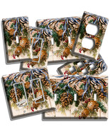 RUSTIC PINE CONES W RIBBON LIGHT SWITCH OUTLET WALL PLATES COUNTRY KITCH... - $10.99+