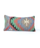 Vintage Chic Home Decor, Kilim Lumbar Pillow Case, Bolster Throw Cushion... - £14.29 GBP
