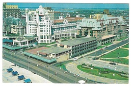 Hotel Marlborough Blenheim Atlantic City NJ Aerial View Vntg 1960s Postcard - $6.69
