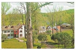 PA Hopewell Village View from Visitor Center Vintage Postcard Walter Miller - $4.99
