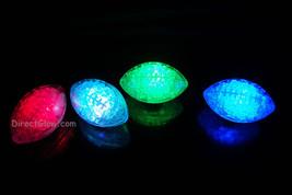 Set of 4 Litecubes Brand RAINBOW Light up LED Footballs - $11.50