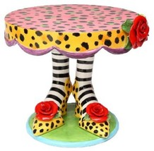 Appletree 10.5 Inch Multicolored Leopard Print High Heels Design Cake Stand - $99.95