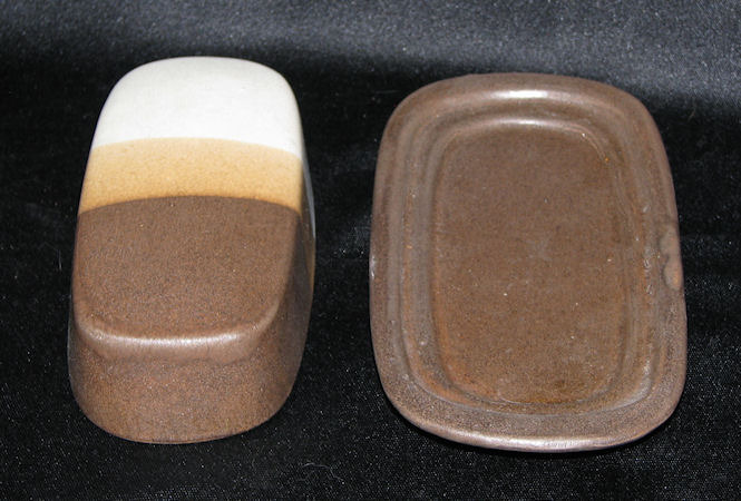 Vintage McCoy Pottery Sandstone Butter Dish Covered 2 Piece Set