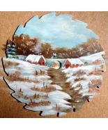 Order 4 Mini Winter Farm Scene Sawblade Round Fridge Magnet Wall Decor H... - $12.50