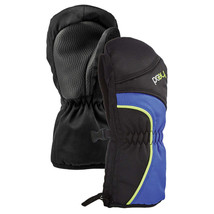 HEAD Junior Black Blue DayGlow Boys Insulated Ski Mittens Winter Gloves NWT