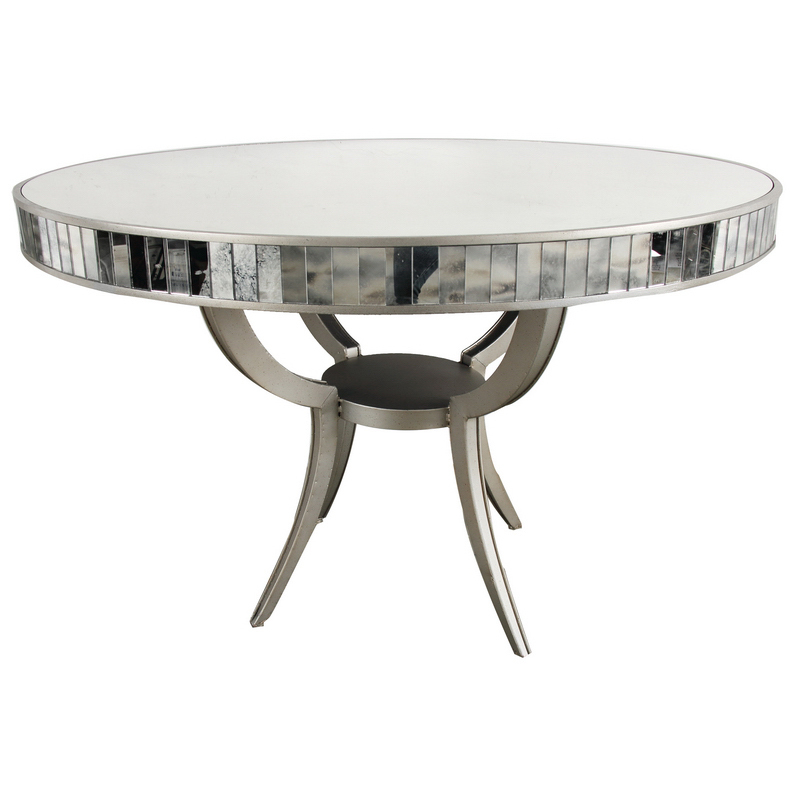 MODERN ROUND METAL GLASS DINING ROOM TABLE 48 39 39 D X 32 39 39 H
