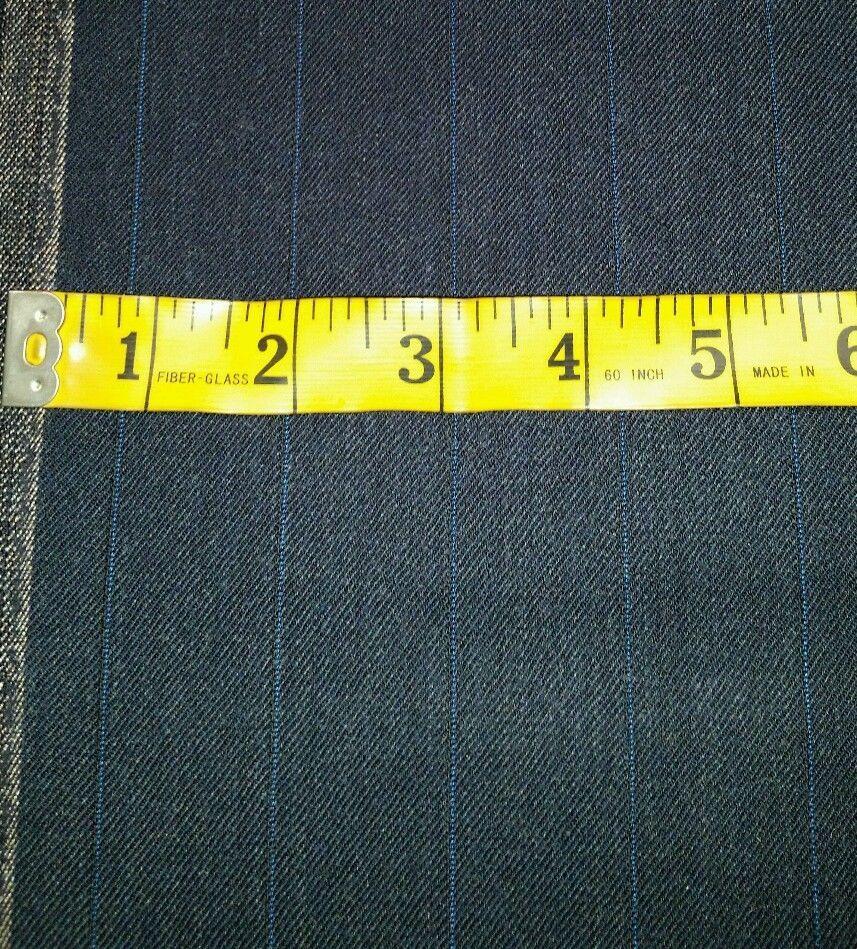 Super 130'S Italian marino Wool Suit Fabric 6 Yards MSRP $1395 Blue Gray fabric