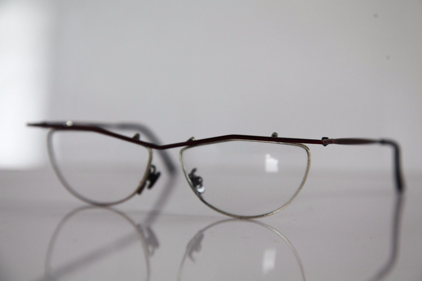 SELECT Eyewear, Metallic Red Frame, RX-Able Prescription Lens. Hand Made. ITALY