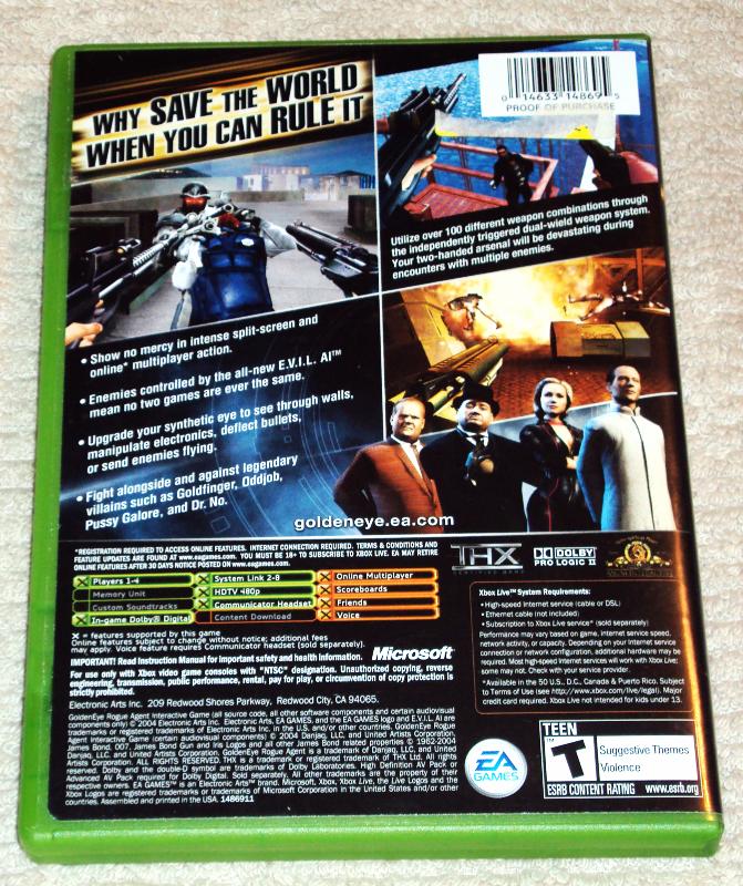 Goldeneye Rogue Agent (Microsoft Xbox, 2004)  image 3