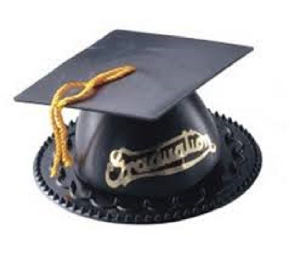 12 Graduation Cap Cake Topper Black graduation favors candy or nut cup