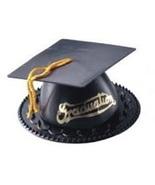 12 Graduation Cap Cake Topper Black graduation favors candy or nut cup - $6.99