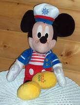 "Disney Mickey Mouse Plush Macy's Holiday Sailor with Hat & Jacket 18"" Pl... - $9.99"