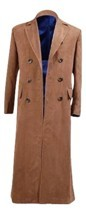 Doctor Who Cosplay Costume Dr Brown Trench Coat New Version By CharmingCoco - £55.96 GBP