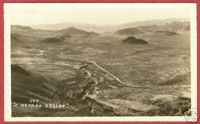 NEVADA DESERT Real Photo RPPC Postcard DOPS BJs