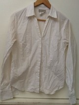 """""""COLDWATER CREEK"""" White blouse with darts in front and back, Size S, Str... - $9.95"""