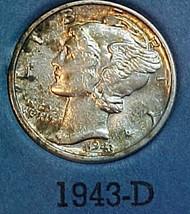 Mercury Dime 1943-D U - $9.04