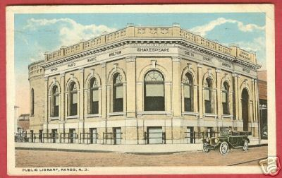 Fargo ND Postcard Library 1919 BJs
