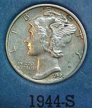 Mercury Dime 1944-S AU - $10.04